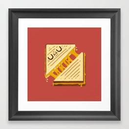 Grilled Cheese Sammy Framed Art Print