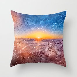Acrylic San Francisco Sunrise Throw Pillow