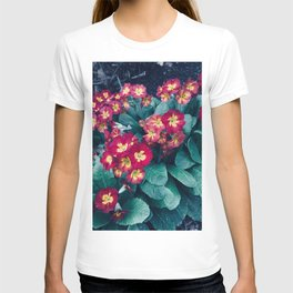 Pretty Little Red & Yellow Flowers T-shirt