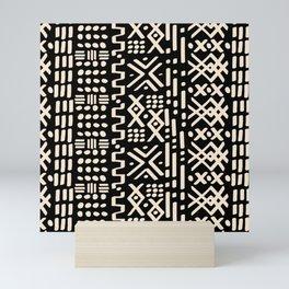 Mudcloth No. 2 in Black + White Mini Art Print