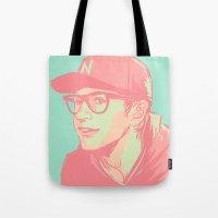 bubblegum Tote Bags featuring Bubblegum by Rosketch