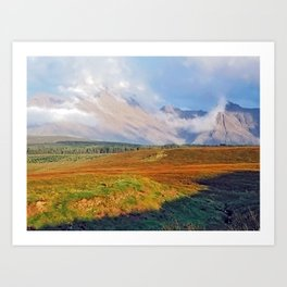 The Black Cuillin Art Print
