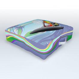 Windsurfer on Ocean Waves Outdoor Floor Cushion