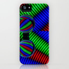 Colored lines iPhone Case