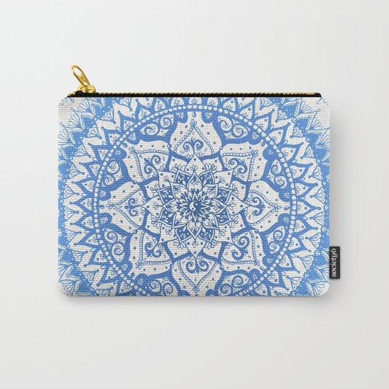 Yin Yang Mandala in Soft Blues Carry-All Pouch