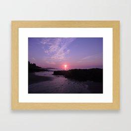 Purple Beach Sunrise Framed Art Print