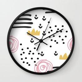 Abstract scandinvian art Wall Clock