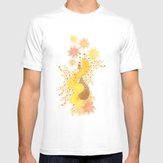fall MEDIUM White Mens Fitted Tee