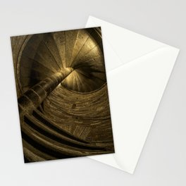 Vintage spiral stairs Stationery Cards