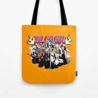 bleach Tote Bags featuring TOGETHER BLEACH by feimyconcepts05