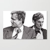 true detective Canvas Prints featuring True Detective by Rik Reimert