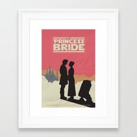 princess bride Framed Art Prints featuring The Princess Bride by mattranzetta