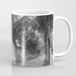 Vintage Palm Tree Beach Trail Photograph (1900) Coffee Mug