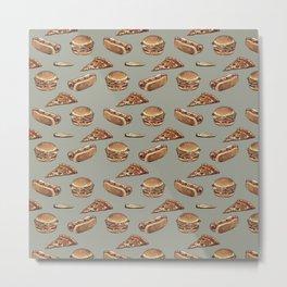 Fast Food Pattern Metal Print