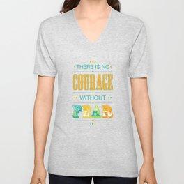 Courage Unisex V-Neck