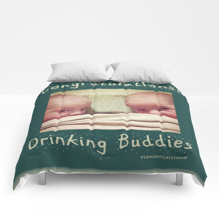 Congratulations on Twins Babies! Comforters