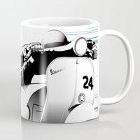 racing Mugs featuring Racing by Don Paris Schlotman