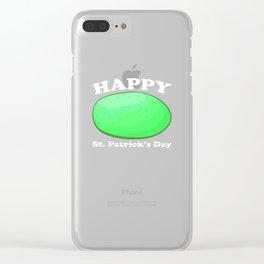 Happy St Patricks Day Irish Meme Drunk Green Potato Clear iPhone Case