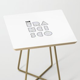 San Francisco in writing Side Table