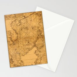 Map of South China Sea 1794 Stationery Cards