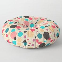Multicolored Geometric Polka Dot Pattern Floor Pillow