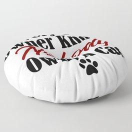 Funny Cat Evil Kitty Master Meow Kitten Pet Whisperer Floor Pillow