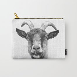 Black and White Goat Carry-All Pouch