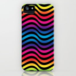 Wiggly Vibrant Multicolour Lines iPhone Case