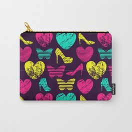 High Heels Grunge hearts and butterflies Carry-All Pouch