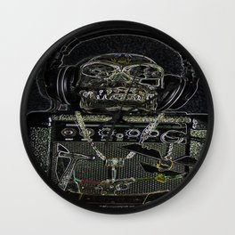 Music Metal Skull  Wall Clock