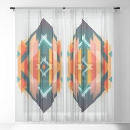Broken Diamond - Incalescence Sheer Curtain