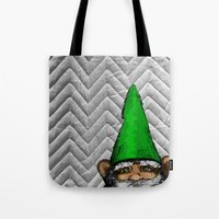 gnome Tote Bags featuring Gnome by FeralEva