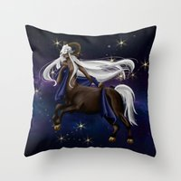 zodiac Throw Pillows featuring Zodiac by Aoi Hikari Arts