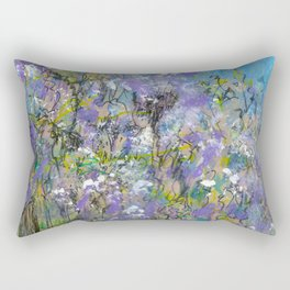 Purple Bush by the Gate Rectangular Pillow