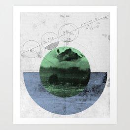Geomatica Art Print