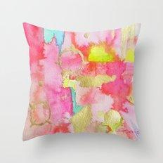 Pink Links Throw Pillow