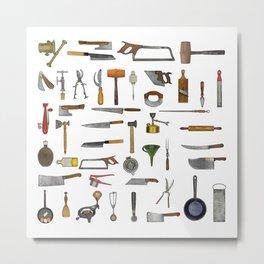 vintage utensils Metal Print
