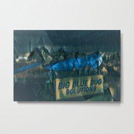 Nibbles Woodaway, Big Blue Bug Termite , Providence, Rhode Island Portrait Metal Print