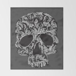 Sex kill you everyday (SKULL) Throw Blanket