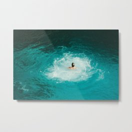 Tropical Swim Metal Print