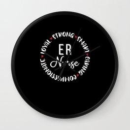 ER Nurse Emergency Room Gifts Nurses Love Wall Clock