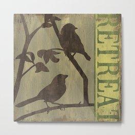 Peaceful Songbirds Metal Print