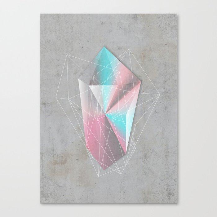 Iridescent Geometry Gem Canvas Print
