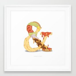 Burger & Fries Framed Art Print