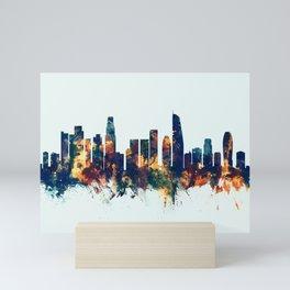Los Angeles California Skyline Mini Art Print