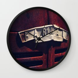 Rusted Farmall Tractor Wall Clock