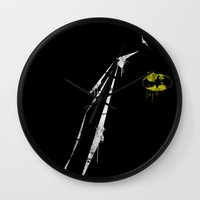 bat Wall Clocks featuring bat by Molnár Roland