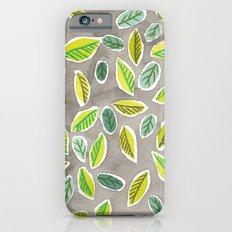 Leaf Watercolor Pattern by Robayre iPhone 6s Slim Case