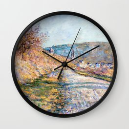 1879-Claude Monet-The Road to Vétheuil-23 x 28 Wall Clock