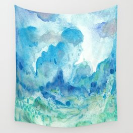 Blue watercolor Wall Tapestry